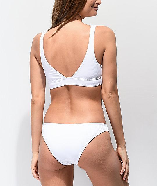 Acanaladas Damsel Bikini De En Blanco Braguitas ebWEDI9H2Y