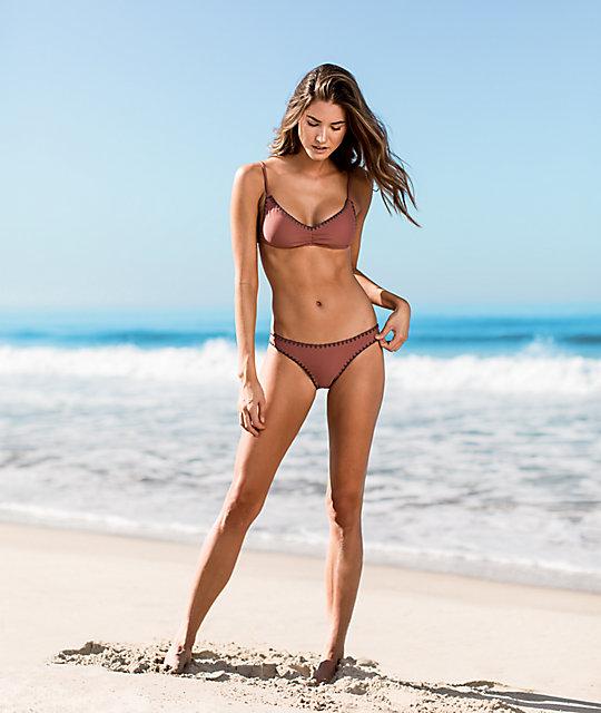 Rosa Damsel Oscuro De Con En Top Bikini Bordes Punto jLGUzMqVSp
