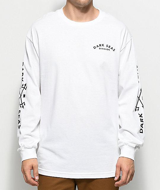 Dark Seas Clash White Long Sleeve T-Shirt | Zumiez