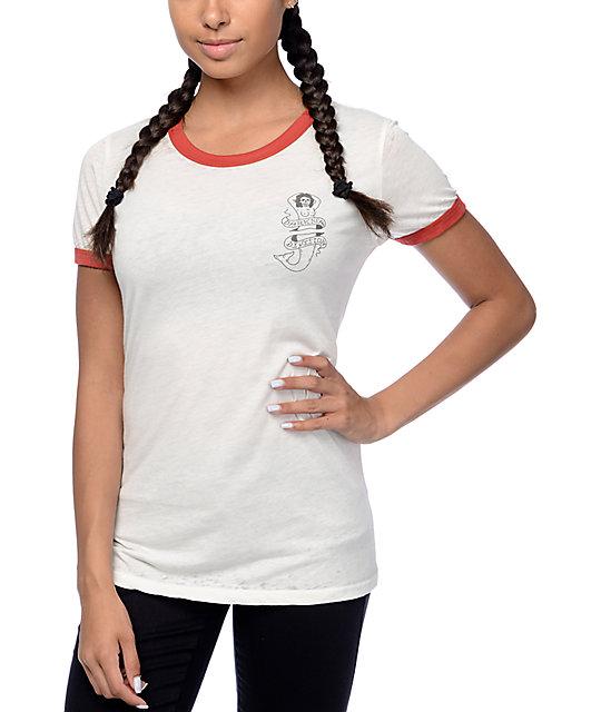 Seas Mermaid Skeleton Ringer T-Shirt