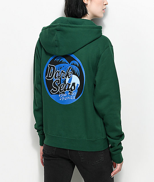 Dark Seas Night Cap Green Hoodie by Dark Seas