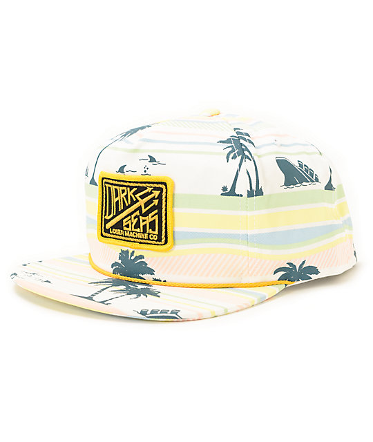 Dark Seas Overhead White Snapback Hat