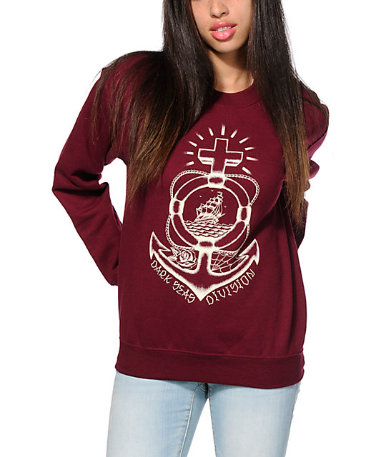 Dark Seas Sailor Savior Crew Neck Sweatshirt