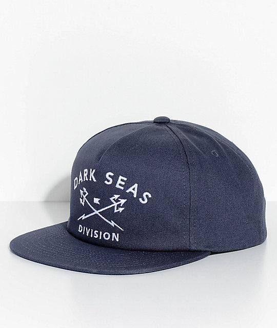 Dark Seas Trident Navy Snapback Hat