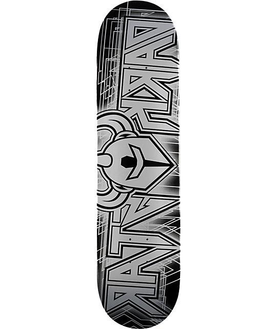 """Darkstar Fuzz Silver 8.0""""  Skateboard Deck"""
