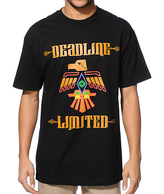 Deadline indian black t shirt for Superhero t shirts india