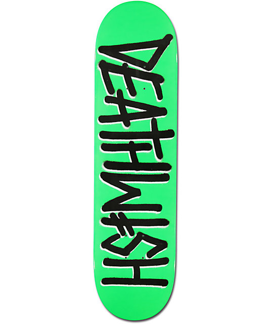 "Deathwish Death Spray Dipped Green 7.875""  Skateboard Deck"