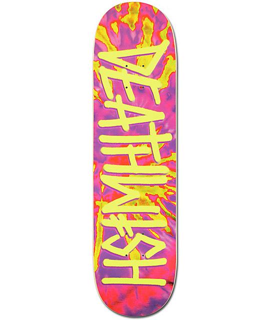 """Deathwish Deathspray Tie Dye 8.25"""" Skateboard Deck at ..."""