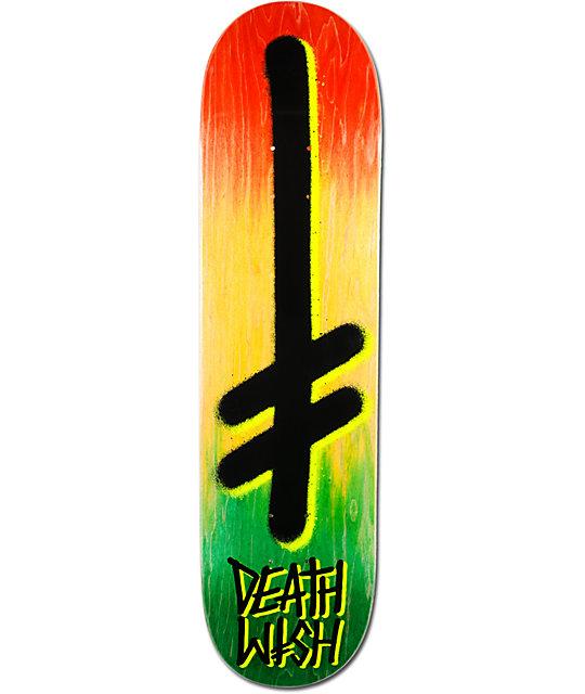 """Deathwish Double Dip Rasta 8.125""""  Skateboard Deck"""