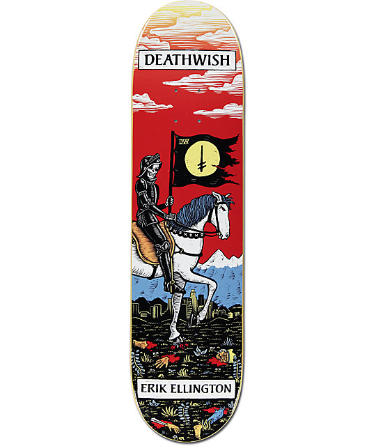 "Deathwish Ellington Tarot Card 7.875""  Skateboard Deck"