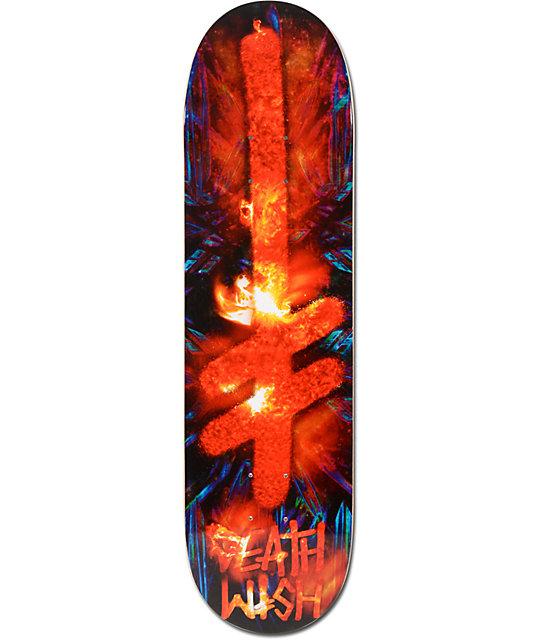 "Deathwish Gang Logo Fire 8.0""  Skateboard Deck"