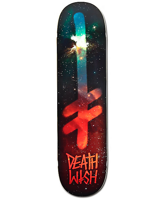 "Deathwish Gang Logo Nebula 8.0""  Skateboard Deck"