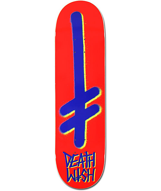 "Deathwish Gang Logo Red & Blue 8.4""  Skateboard Deck"