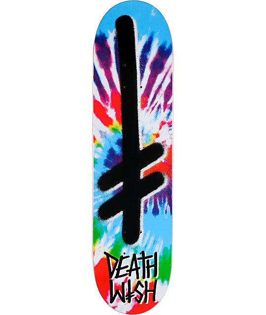 "Deathwish Gang Logo Tie Dye 8.0""  Skateboard Deck"