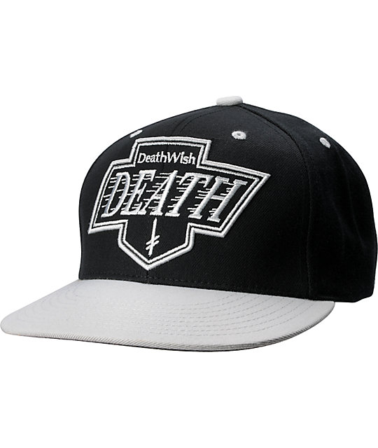 Deathwish Kings Black & Silver Snapback Hat