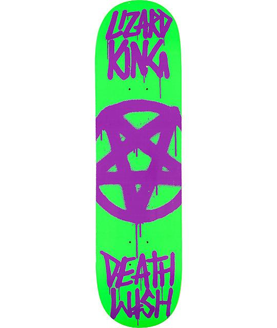 """Deathwish Lizard Pentagram 8.25""""  Skateboard Deck"""