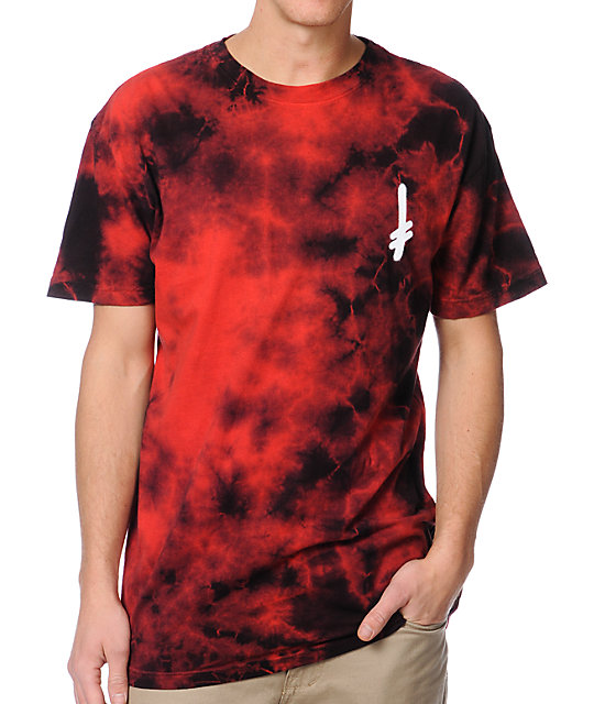 deathwish logo red marble tie dye t shirt ForHow To Dye A Shirt Red