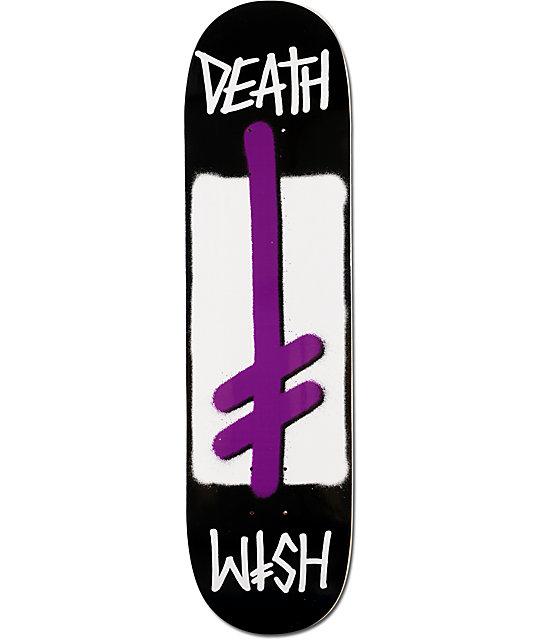 """Deathwish Purple Power 8.25""""  Team Skateboard Deck"""