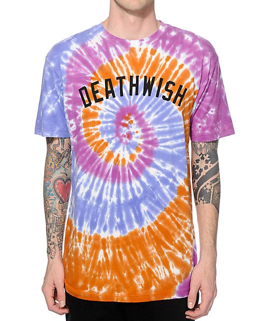 deathwish short stop tie dye t shirt at zumiez pdp