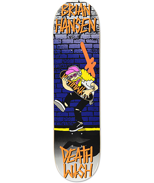 "Deathwish Slash Death Toons 8.12"" Skateboard Deck"