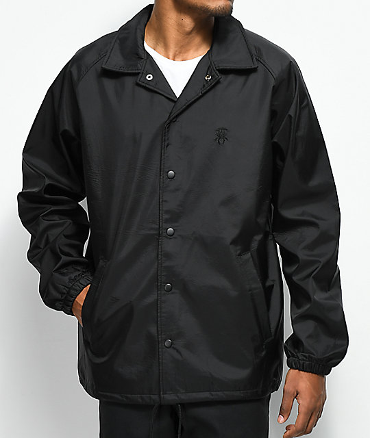 Deathworld Black Mamba Black Coaches Jacket by Deathworld