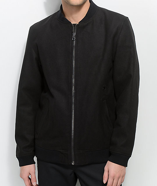Deathworld Sanichar Black Bomber Jacket by Deathworld