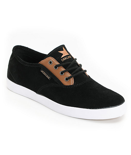 Dekline Daily Black Suede & Tan Shoes