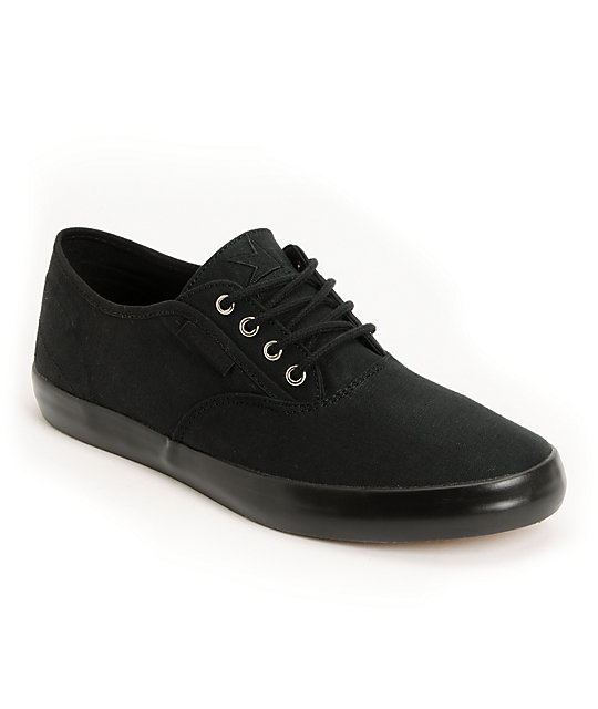 Dekline Daily Black Twill Skate Shoes