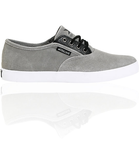 Dekline Daily Grey Suede & Black Shoes