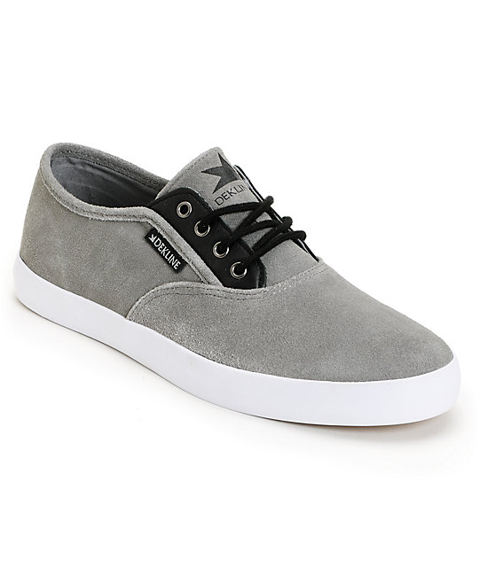 Dekline Daily Grey Suede & Black Shoes