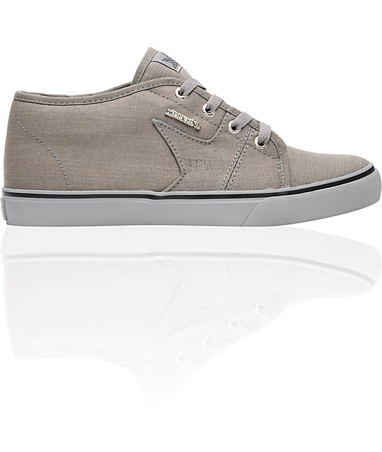Dekline Harper Grey & Grey Monks Canvas Skate Shoes
