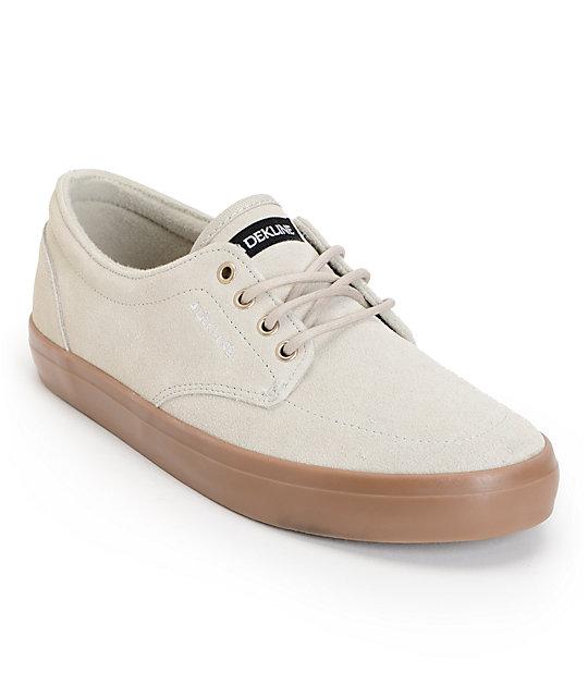 Dekline Mason Agate & Gum Suede Skate Shoes