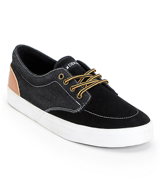 Dekline Mason Black & Latte Suede Skate Shoes