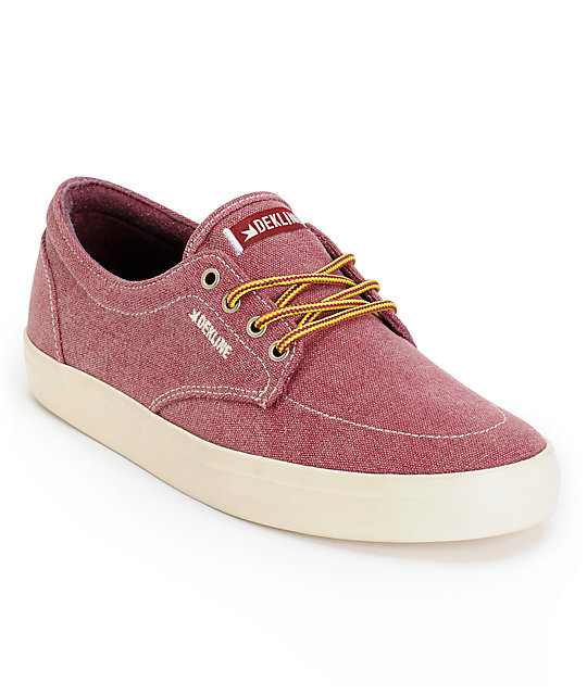 Dekline Mason Port & Antique Canvas Skate Shoes