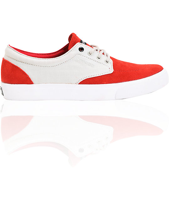 Dekline Mason Red & Light Grey Shoes