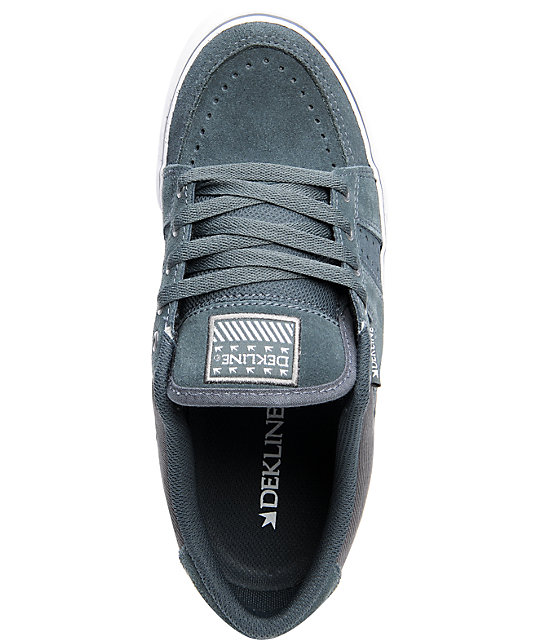 Dekline Paxton Charcoal & Grey Suede Shoes