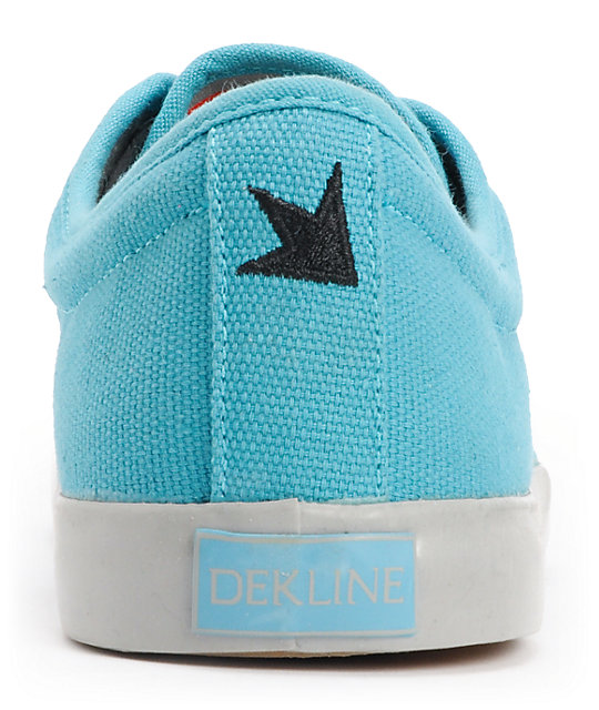 Dekline River Blue & Grey Canvas Skate Shoes