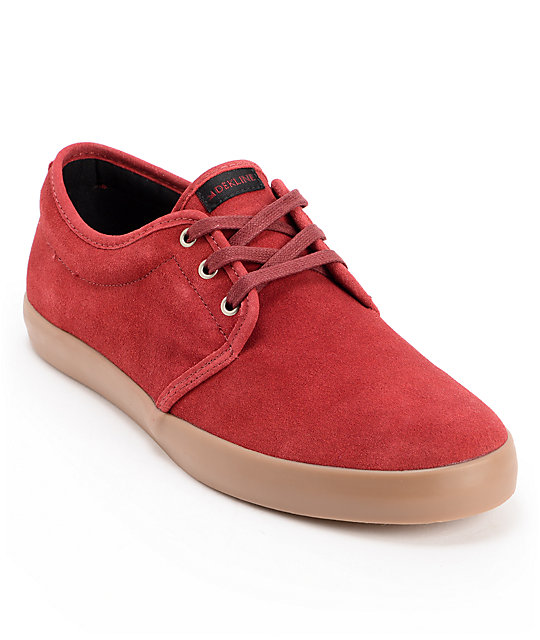 Dekline River Burgundy & Gum Suede Shoes