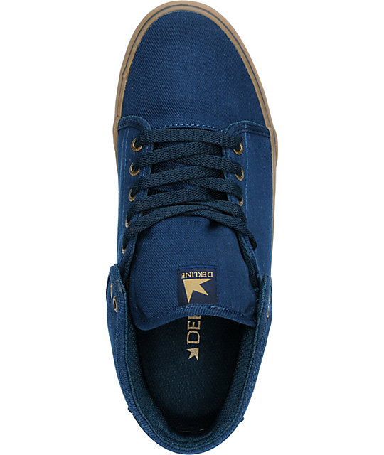 Dekline Santa Fe Mid Midnight & Tan Twill Skate Shoes