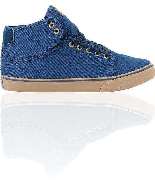 Dekline Santa Fe Mid Midnight & Tan Twill Skate Shoes