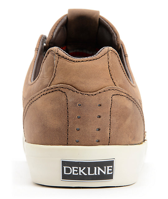 Dekline Tim Tim Espresso Full Grain Leather Skate Shoes