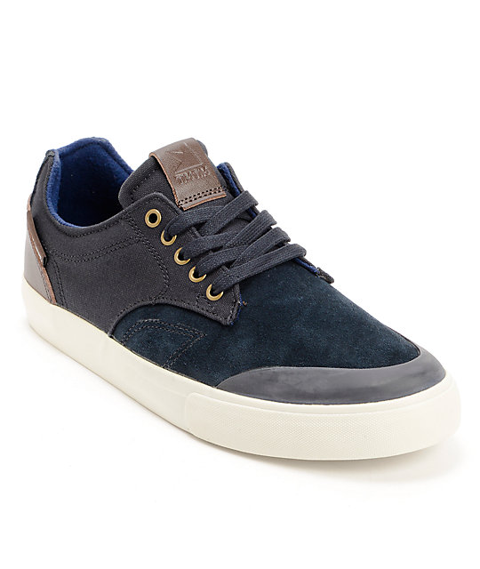 Dekline Tim Tim Midnight & Antique Leather Skate Shoes