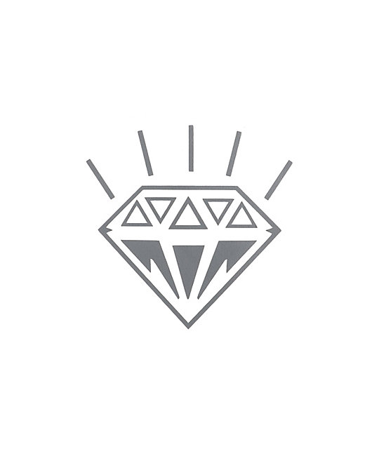 Diamond Silver Die-Cut Sticker