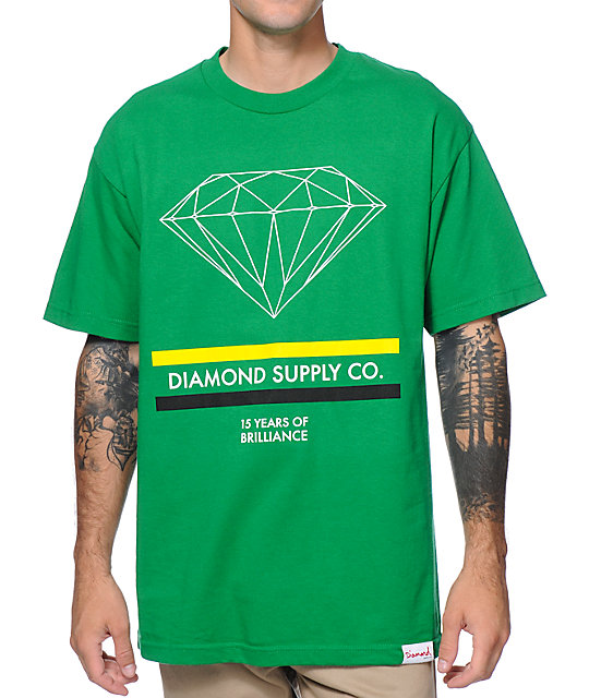 Diamond Supply Co 15 Years Brilliance Green T-Shirt