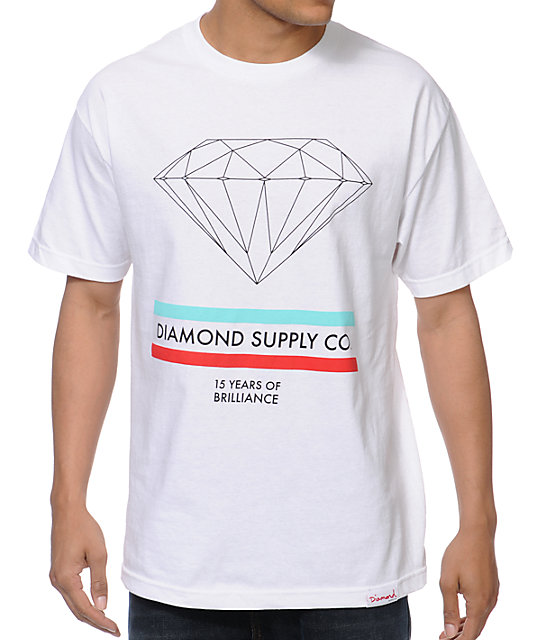 Diamond Supply Co 15 Years Brilliance White T-Shirt
