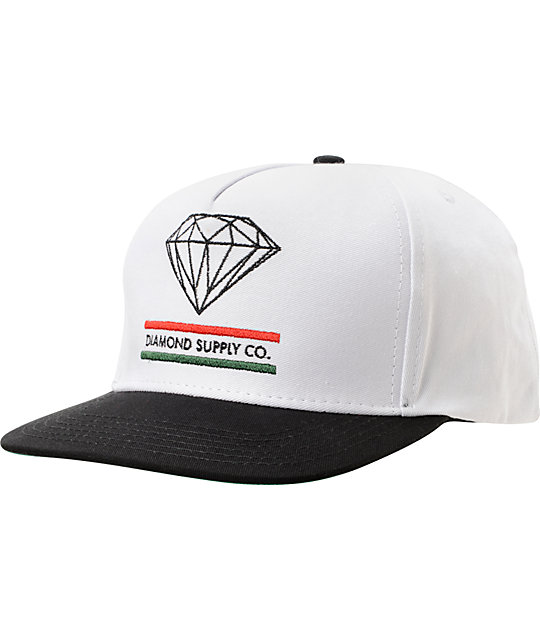 Diamond Supply Co 15 Years Of Brilliance White Snapback Hat