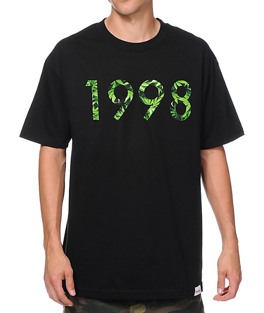 Diamond Supply Co 1998 Hemp Black T-Shirt