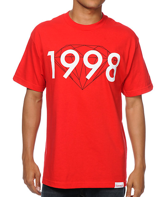 Diamond Supply Co 98 Brilliant Red T-Shirt