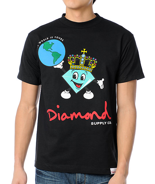Diamond Supply Co A Cuddy World Black T-Shirt