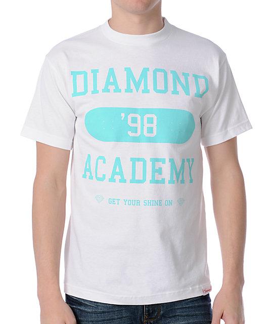 Diamond Supply Co Academy White T-Shirt